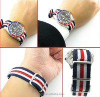 waterproof wristband 24mm black/white nato strap vogue watch strap casio watch strap