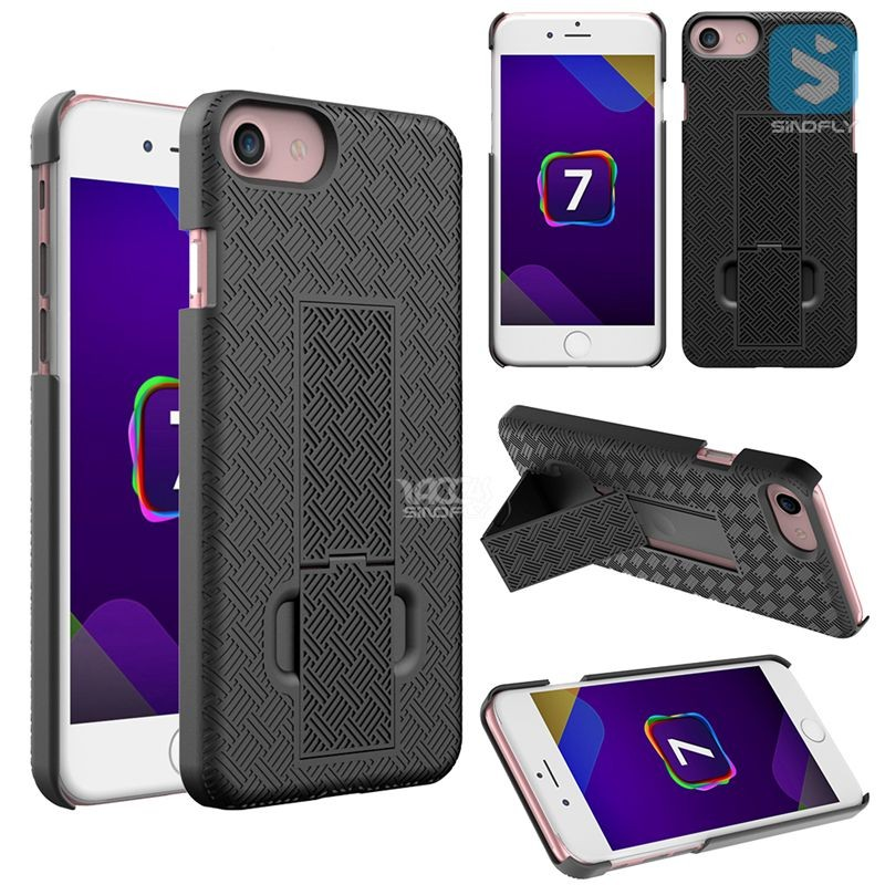 Clipster Kickstand Holster Case + Belt Clip for iPhone 7