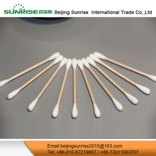 Customized Natural Color Industrial Wooden Cotton Swabs