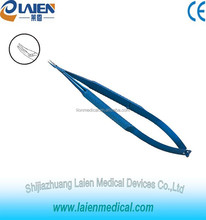 Cheap price CE maked Ophthalmic Surgical curved Needle Holders Without Lock