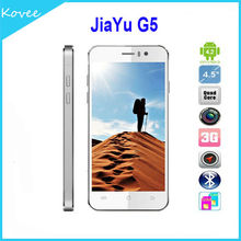 4.5 inch 1280x720 IPS Screen JIAYU G5 smartphone Android 4.2 MTK6589T Quad Core 2*CAM 2*Sim Card Slot GPS 3G 2GB/32GB