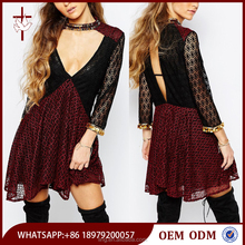 Open back adult lady girls party dress , naughty girl sexy party dress