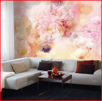 Modern Style Digital Printing Non-woven 3D Flower Wallpaper for Home Decor