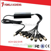 Mini USB DVR 1 Channel Audio Video BNC RCA Input
