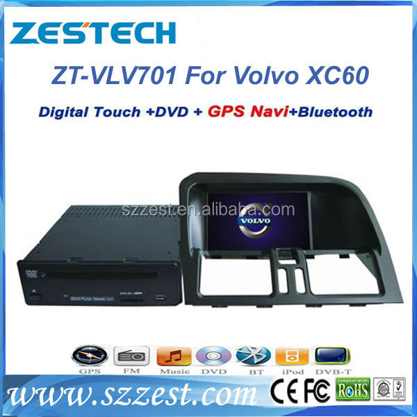"ZESTECH 7"" car dvd gps navigation for Volvo XC60 car dvd gps navigation system tv dc with dvd mp5 player"