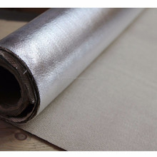 Aluminum Coated Glass Fabric Aluminized Fabric Used For Fire Resistant Doors