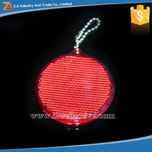 2016 Hard Kids Safety Reflectors, Round Shaped Reflector Plastic/PMMA/Acrylic Reflective Hanger Decoration