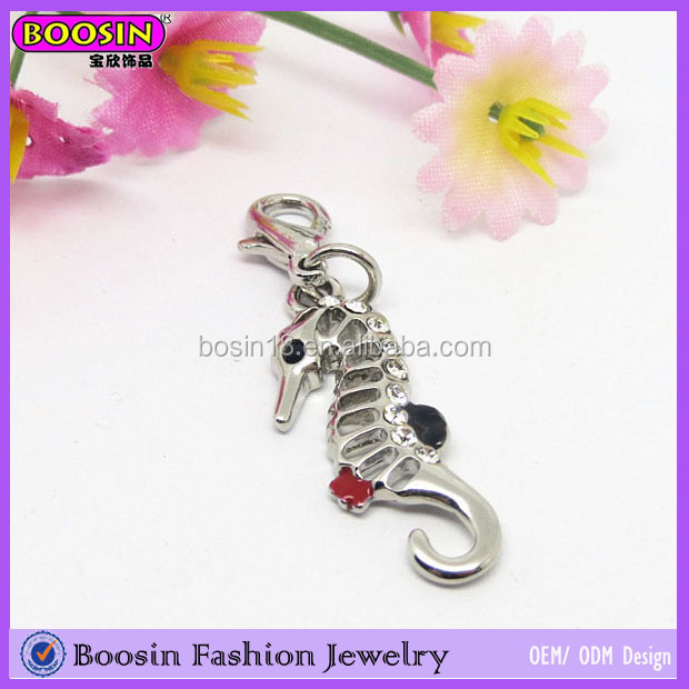 Lovely Jewelry Imitation Alloy nfl Charm Underwater Sea Horse Pendant & Charms # 17177