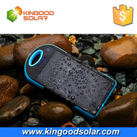 Hottest waterproof solar charger smart solar power bank 12000mah polymer battery for mobile phone