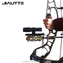 Jialitte 25.4 mm 30 mm Ring Scope Tube Flashlight Laser 20mm Weaver Picatinny Rail Mount Adapter For Compound Recurve Bow J167