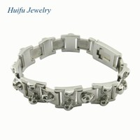 popular hip hop men's skull bandel bracelet