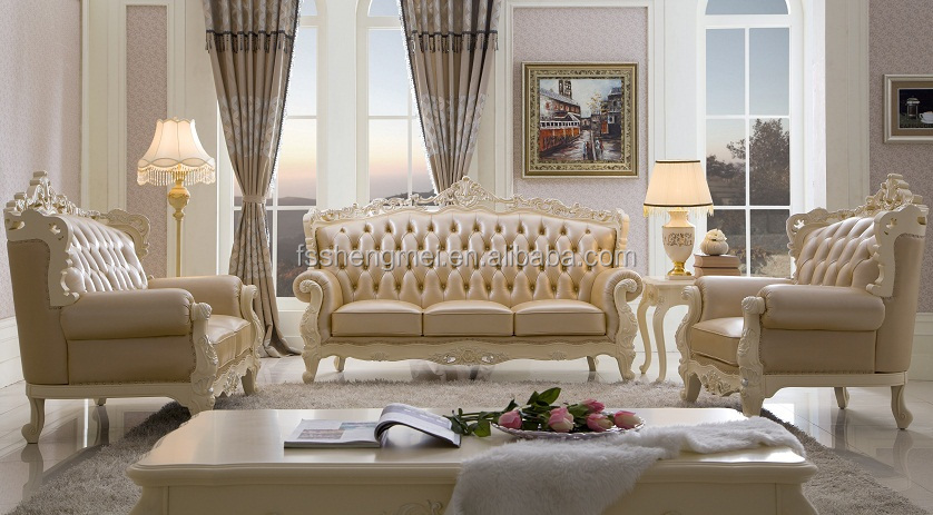 Classic Perfect Dark Color with Gloden and Sliver Sofa Luxury