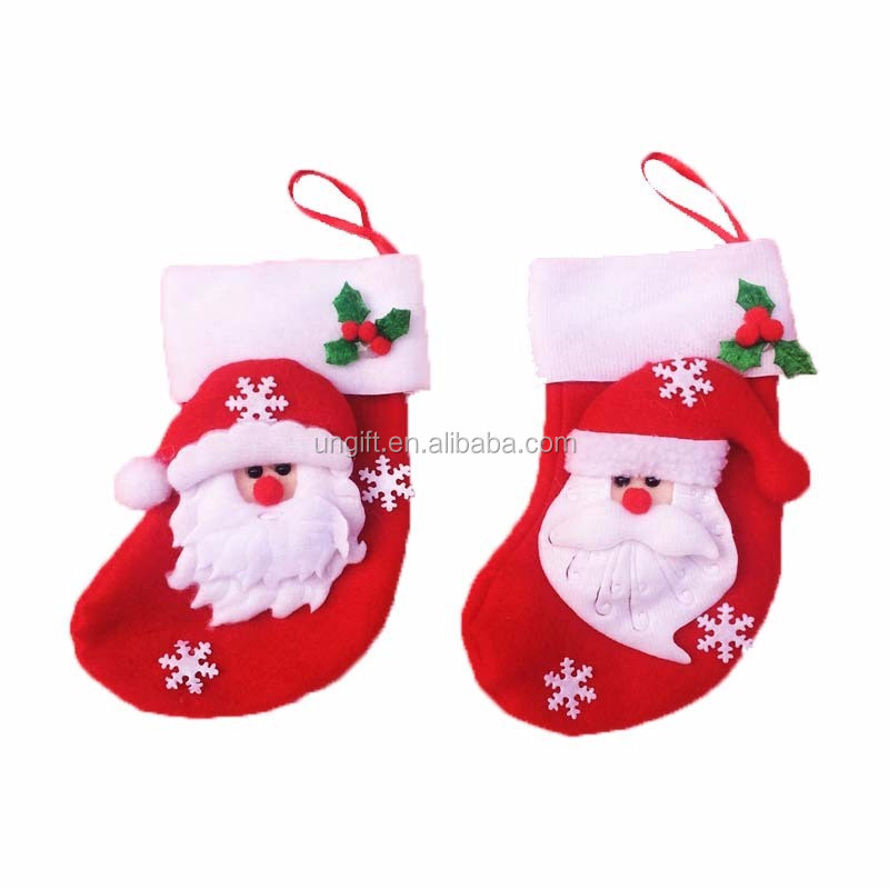 3 Style Christmas Stocking Xmas Christmas Tree hanging decor gift bag holder socks Santa Claus/Elk/Snowman design new sale