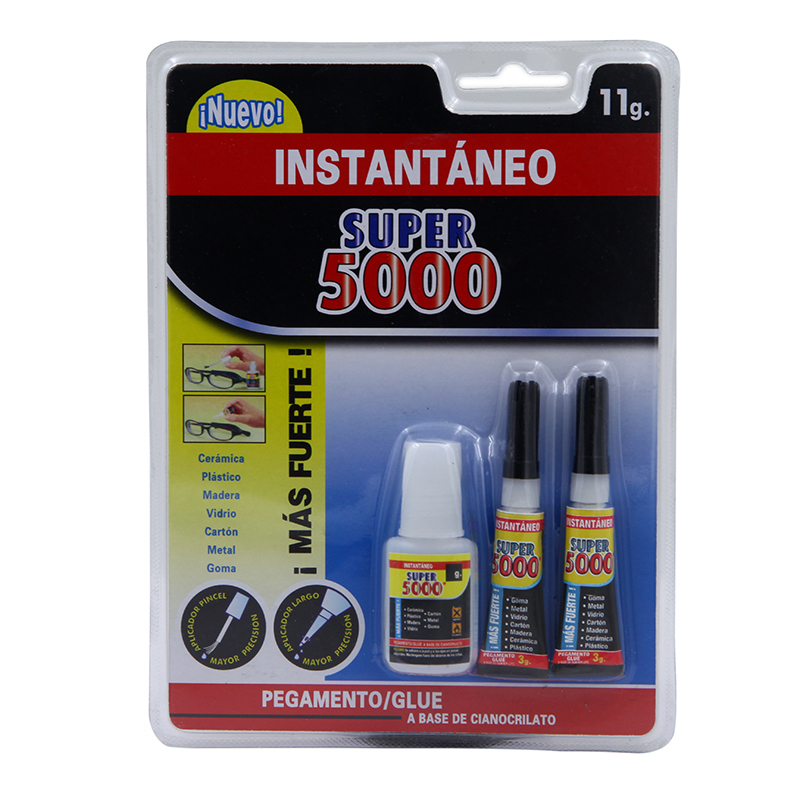 Hot Sale Spanish Strong Adhesive 5000 Pegamento Super Glue Instant