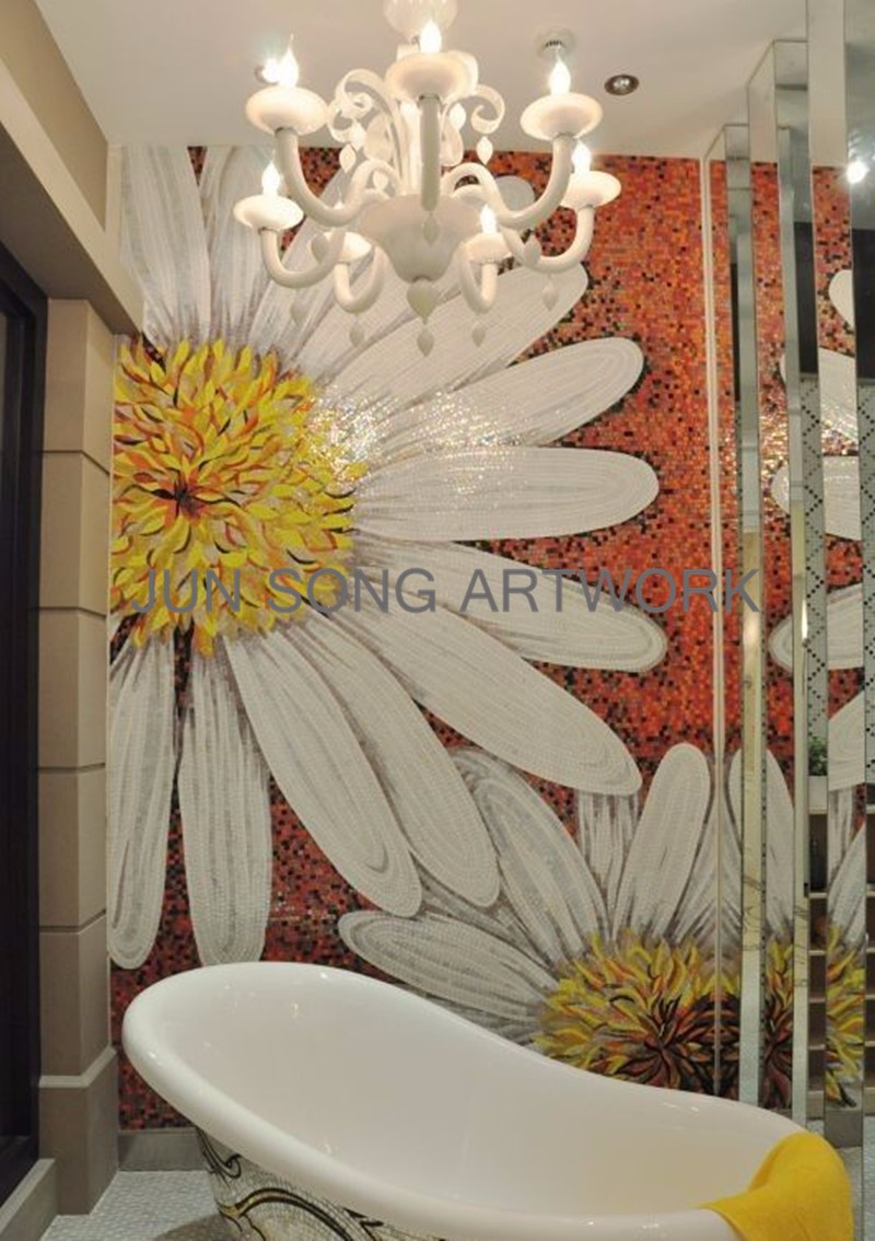 MHP-MD06 Handmade Glass Mosaic Tile Picture Hotel Lobby Wall Decoration Bathroom Tiles Mosaic