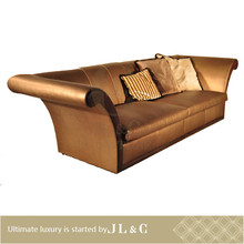 AS12-04 long tufted leather sofa in living room from JL&C luxury furniture