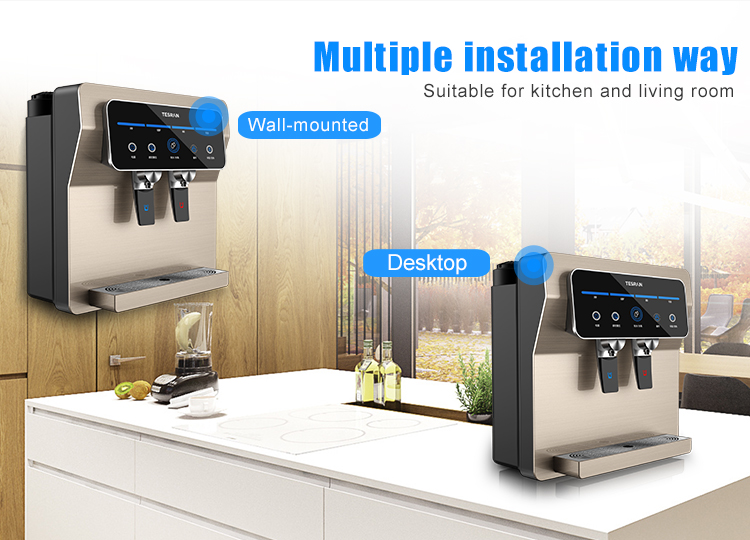china countertop comercial drinking water ro system water dispenser in wall