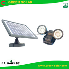 Double head Solar Outdoor LED Flood Light with 500 Lumens