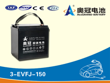 6V 150Ah Rechargeable Free-maintained Deep-cycled GEL Lead Acid Battery for Electric Vehicle