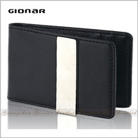 Custom Western Style Leather Men Wallet With Removable Metal Money Clip Wallet