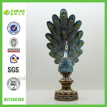 Home Decoration Artificial Resin Peacock