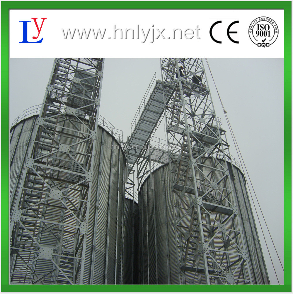 Reasonable price 1000tons capacity steel silo for grain storage
