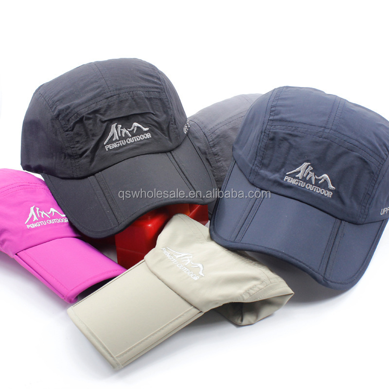 Waterproof Sports Cap Promotional Gifts Foldable Baseball Cap