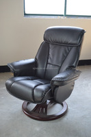 JKY-8010/Genuine Leather Recliner Swivel Chair & Footstool/Massage chair/Swivel Recliner with ottoman