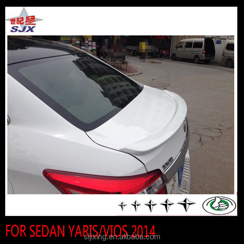 ABS car lip spoiler for SEDAN YARIS and VIOS 2014 without LED light style A rear wing use for auto exterior decoration