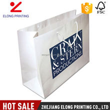 Best prices attractive style disposable white color shopping kraft paper bag