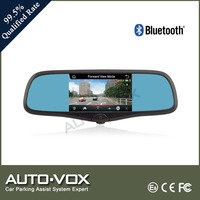 5 inch rearview mirror car gps with dvr camera