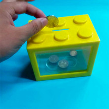 cheap wholesale saving money box/plastic coin bank