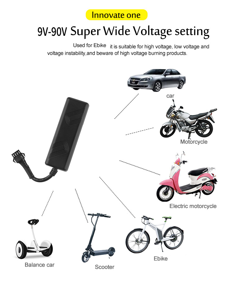 Convenient distant control GPS tracker outdoor application motorcycle GPS