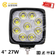 E-mark 12v 24v 27w led work light for truck, car, auto parts, jeep wrangler accessories maiker