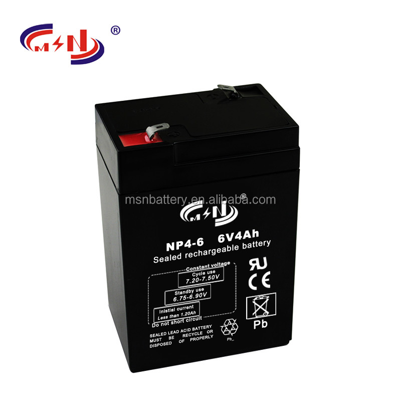 Deep Cycle Battery 6V4ah kids battery cars lead acid battery for powered vacuum cleaner