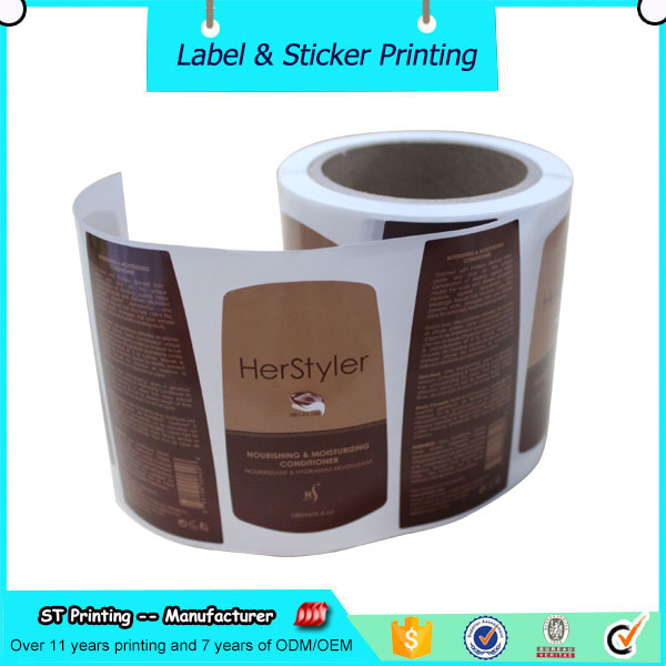 bottle packaging label printing,shampoo label design roll