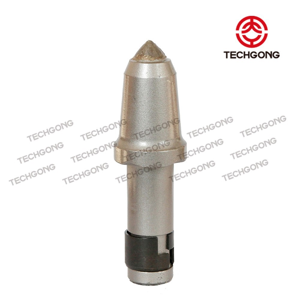Trencher teeth/bullet teeth for rock augers /easy-to-change round shank trenching tool wearable block holder