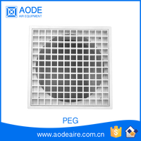 Plastic supply air grille with square eggcrate surface for HVAC system, PEG Eggcrate return air conditioner grille