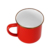 custom china red color cast iron metal printed decal 8cm enamel camping mug with gold rim