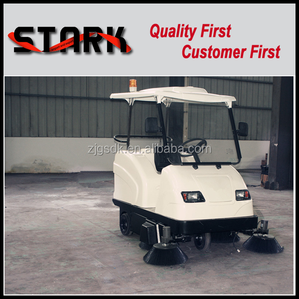 1760 electric fuel and cleaning use industrial road sweeping vehicle machine