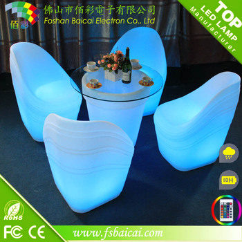 Luxury hotel furniture hotel poolside furniture LED bar table
