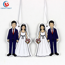 Eco-Friendly hanging car air freshener paper for wedding party decorations