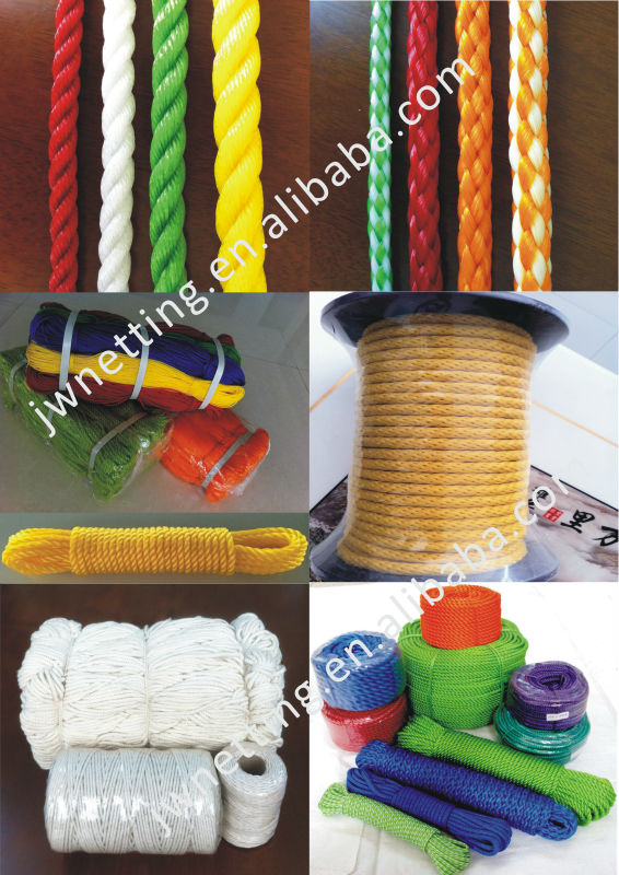 Superior Strong Various Colored Twisted PP Rope