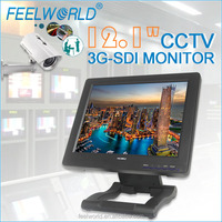 FEELWORLD 12.1 inch TFT CCTV Monitor with 3G SDI input for wireless outdoor dome ptz ip camera