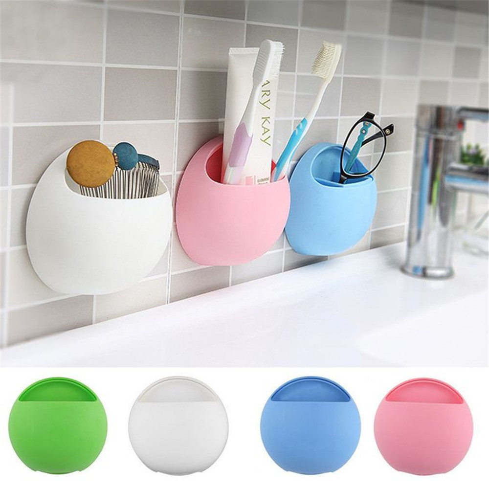 2017 New Fashion Design Silicone Toothbrush Stand Tooth Paste Holder