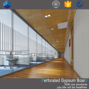 Customized acoustic types of perforated gypsum ceiling board