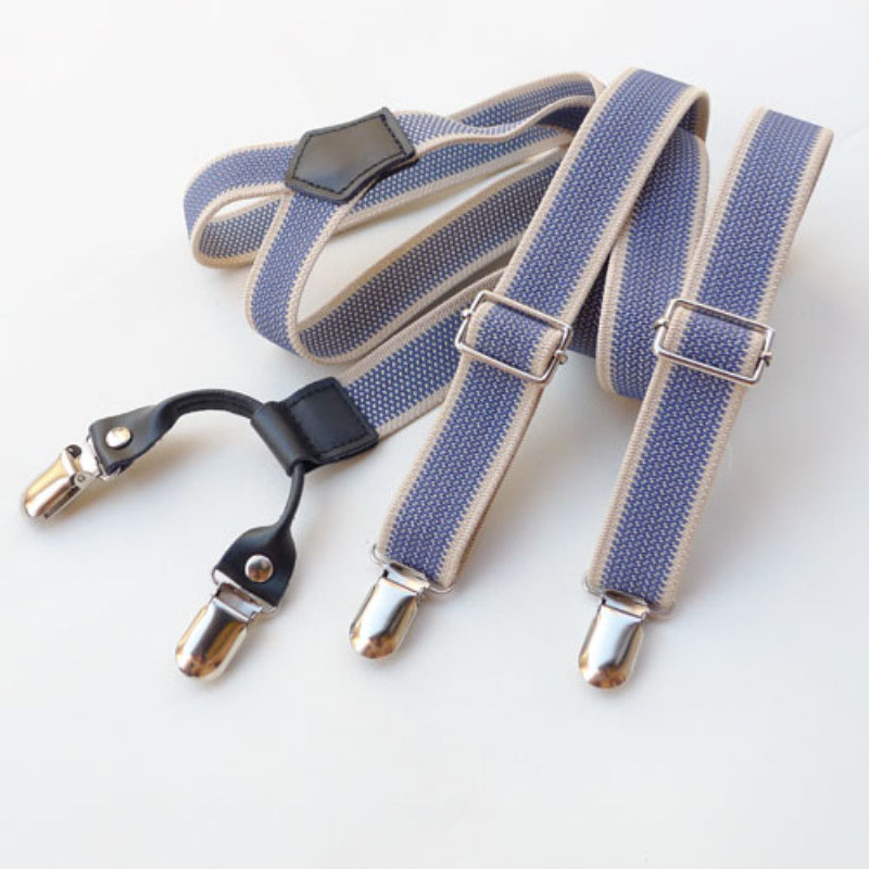 2018 Hot Sale Custom-made Suspenders Belt Personalized Elastic Unisex Suspenders With 4 Clips Wholesale