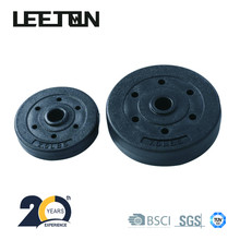 Adjustable plastic coated cement dumbbell weight plate