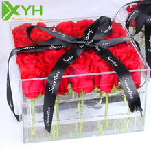Wholesale Clear Acrylic Flower Box for Flower Packaging Box