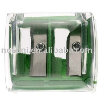 green double hole eyebrow pencil sharpener